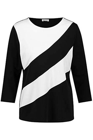 Gerry Weber Damen 3/4 Arm Shirt mit Blockstreifen figurumspielend 42