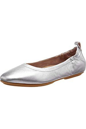 FitFlop Damen Allegro Q74 Geschlossene Ballerinas, (Silver 011)