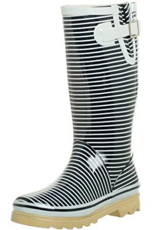 Chooka Damen Starboard Stripes Stiefel, (Navy)