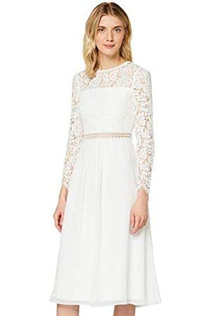 TRUTH & FABLE Amazon-Marke: Damen Midi A-Linien-Kleid aus Spitze , 34