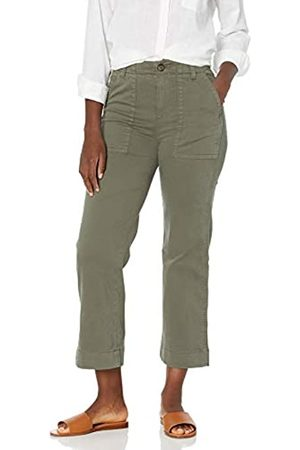 Goodthreads Damen Chinos - Stretch Chino Wide-Leg Military Crop Pants