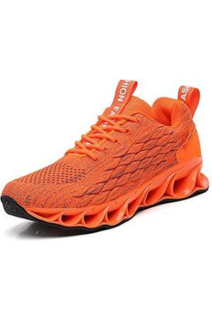 SKDOIUL Sport-Sneaker für Herren, Netzstoff, atmungsaktiv, modisch, für Jugendliche, große Jungen, Wanderschuhe, Schwarz, Weiß, Rot, Schwarz (A050 )