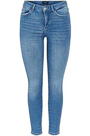 Pieces Female Slim Fit Jeans Cropped Slight Blue Denim