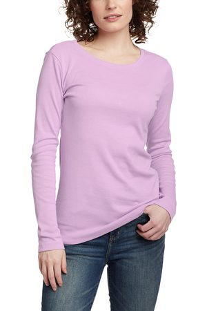 Eddie Bauer Favorite Shirt - Langarm mit Rundhalsausschnitt Damen Gr. L