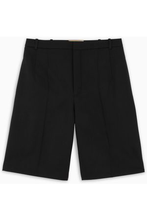 Saint Laurent Black twill short trousers