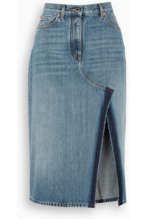 VALENTINO Denim long skirt