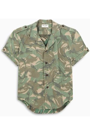 Saint Laurent Shirt with military print