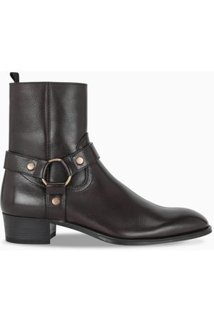 Saint Laurent Dark brown Wyatt boots