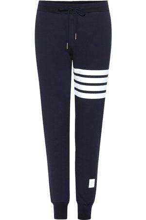 Thom Browne Damen Jogginghosen - Jogginghose aus Baumwolle mit Streifen