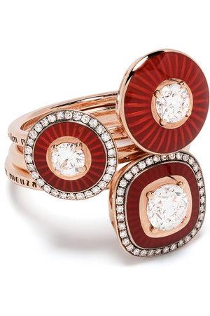 SELIM MOUZANNAR 18kt Rotgoldringe mit Diamanten