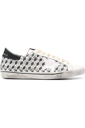 Golden Goose Super-Star Sneakers mit Würfel-Print