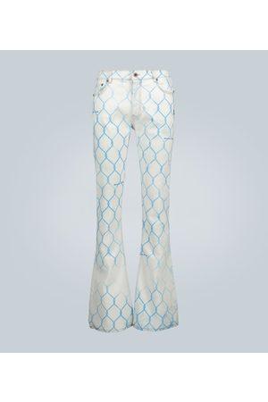 OFF-WHITE Straight - Bedruckte Skinny Jeans