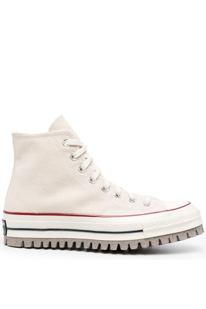 Converse High-Top-Sneakers mit dicker Sohle - Nude