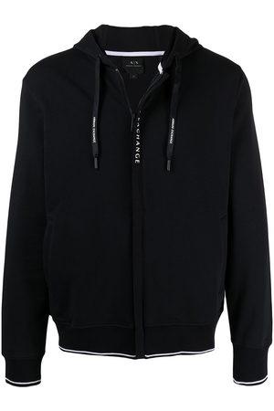 Armani Drawstring zipped hoodie