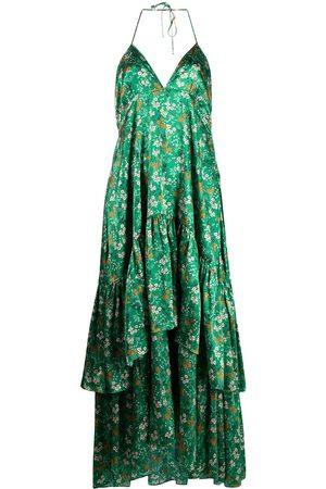 L'Autre Chose Gestuftes Kleid mit Blumen-Print
