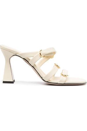 Wandler Lara block-heel sandals - Nude