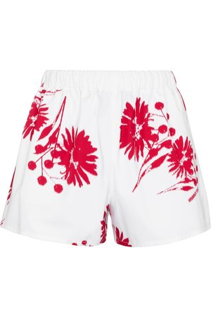 Prada Damen Shorts - Bedruckte Shorts aus Baumwolle