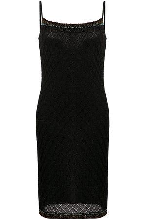 Dior 2000s pre-owned Lurex-Kleid mit Perlen