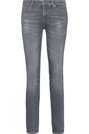 7 For All Mankind Mid-Rise Jeans The Skinny Slim Illusion