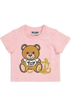 Moschino Kids Baby Shirts - Baby T-Shirt aus Stretch-Baumwolle