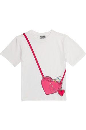 Moschino Kids Mädchen Shirts - T-Shirt aus Stretch-Baumwolle