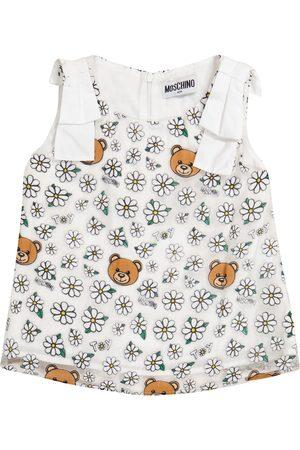 Moschino Mädchen Oberbekleidung - Top aus Baumwolle und Tüll