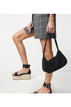 Truffle Collection Wide Fit – Plateau-Espadrilles mit Schnalle in