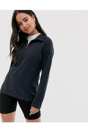 Columbia Damen Fleecejacken - – Glacial – Schwarzes Fleece mit halblangem Reißverschluss