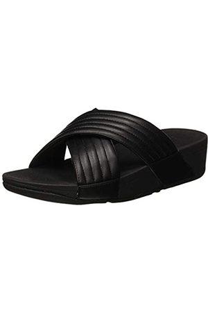 FitFlop Damen Padded Lulu Slide - Pu Sandal, (Black 001)