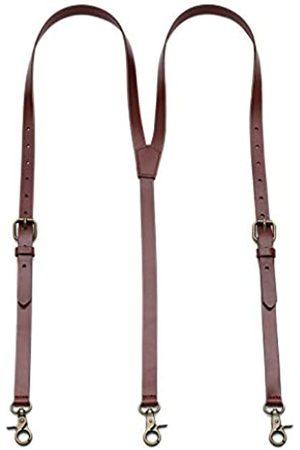 HIGBRE Hosenträger aus Leder für Herren, Y-Rücken, verstellbar