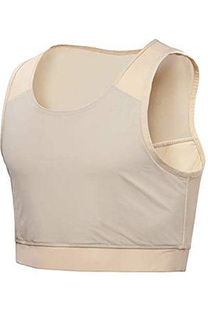 Idtswch Brust Binder für Transgender Brust Binder Half FTM Binder Brust Kompression BH - - X-Large