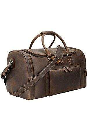 TIDING TIDING Reisetasche, 55,9 cm, Leder, Vintage, für Fitnessstudio, Sport, Übernachtung