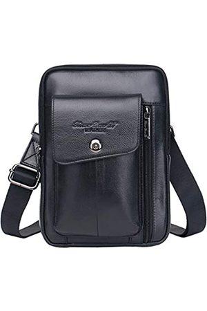 Hebetag Leder-Schultertasche für Herren, Business-Paket, Geldbörse
