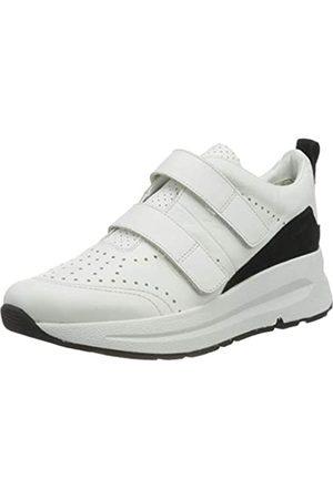 Geox Damen D BACKSIE B Sneaker, (White/Black C0404)