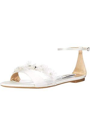 Badgley Mischka Damen CANDACE Flache Sandale, (Soft White)