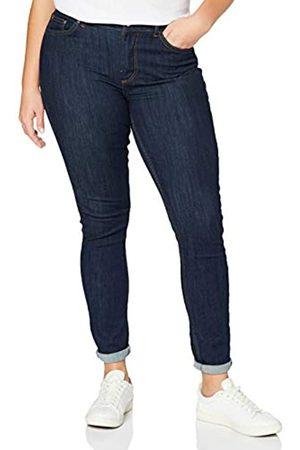 Pieces Damen PCDELLY SKN MW DB305-BA/NOOS BC Jeans, Dark Blue Denim