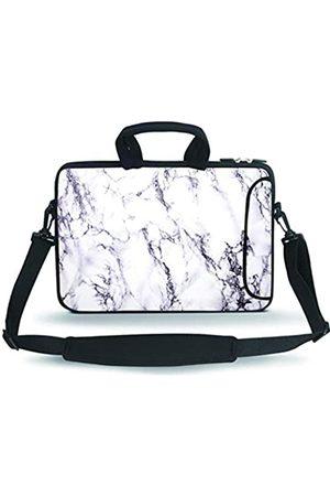 "HAPLIVES 11-13.3"" Neoprene Sleeve Notebook Messenger Case Tote Bag(White Marble)"