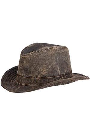 Dorfman pacific Dorfman Pacific Indiana Jones Herren Mütze aus verwitterter Baumwolle - Braun - Large