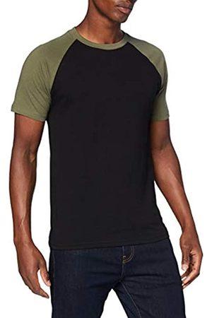 Urban classics Herren Raglan Contrast Tee T-Shirt, blk/cha