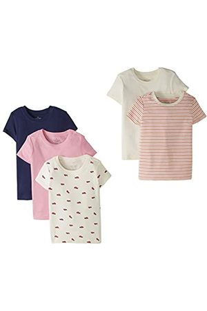 Moon and Back by Hanna Andersson Moon and Back by Hanna Andersson 5 Pack Crew Neck Tee Novelty-t-Shirts, 4T
