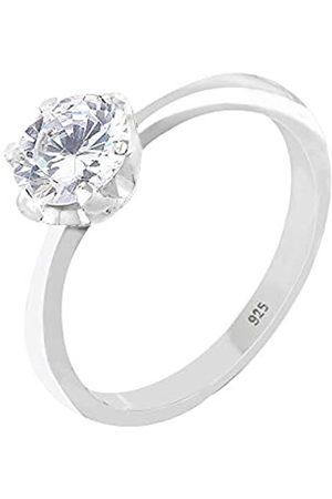 Elli Elli Ring Elli Damen Ring Solitärring mit Zirkonia Steinen im Brillantschliff in 925 Sterling Silber