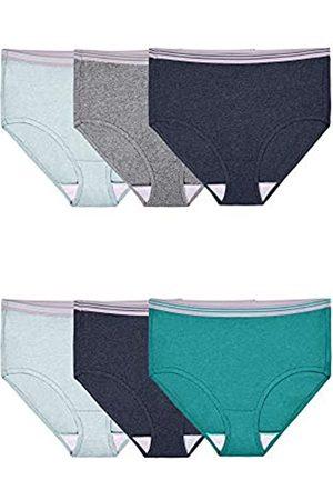 Fruit Of The Loom Damen Slips - Damen Unterwäsche Baumwolle Slip Panty Multipack - Mehrfarbig - Large