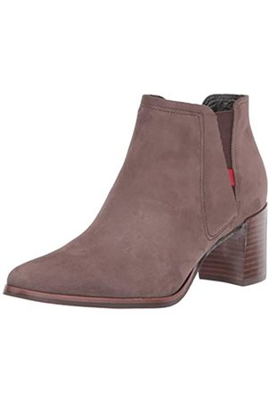 Marc Joseph New York Damen Leather Block Heel with Elastic Detail Amsterdam Bootie Stiefelette