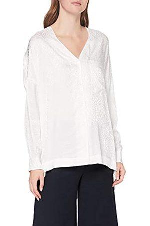 French Connection Damen CHOFA Drape V Neck Button Front Shirt Bluse