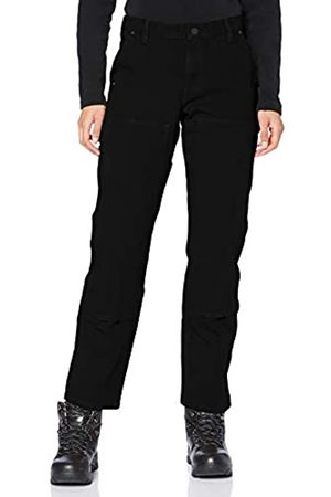 Carhartt Womens Stretch Twill Double Front Trousers Work Utility Pants, Black