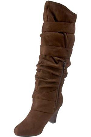 Not Rated Damen Double D Stiefel, Braun (Schokoladenbraun)