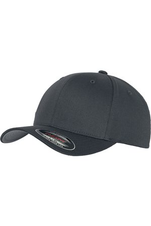 Flexfit Hüte - Wooly Combed Flexcap dunkelgrau