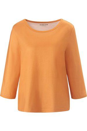 Green Cotton Damen Shirts - Rundhals-Shirt 3/4-Arm