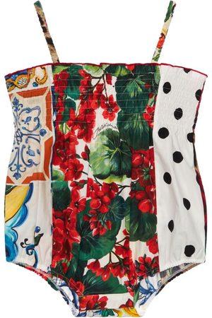 Dolce & Gabbana Mädchen Bodys - Body Aus Baumwollpopeline
