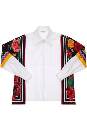 Dolce & Gabbana Mädchen Blusen - Hemd Aus Baumwollpopeline